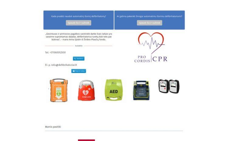 Defibriliatoriai - Defibriliatorių prekyba